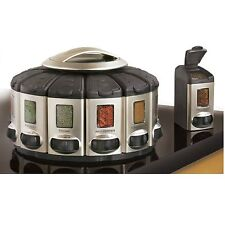 Spice rack carousel ebay for Carousel spice racks for kitchen cabinets