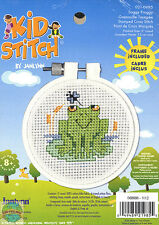 'Kid Stitch' Cross Stitch Kit ~ Soggy Froggy EASY FOR KIDS & BEGINNERS #021-0985