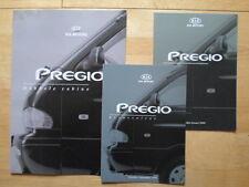 KIA Pregio Double Cab brochure + prices & Accessories 1999 2000 - Dutch market