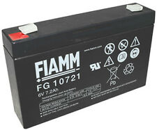 Fiamm FGS FG10721 6V 7,2Ah Faston 4,8mm LC-R067R2P Dryfit A506/6.5S MP7-6