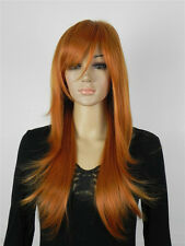 USJF519  charming long brown red straight hair WIG wigs for women