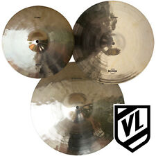 "Wuhan Cymbal Set - 14"" 16"" 18"" - 3 Cymbals, Crashes and Ride - NEW"