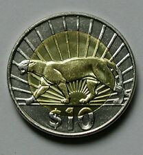 2011 URUGUAY Bi-Metallic Coin - 10 Pesos - UNC cougar/panther/puma (cat) animal