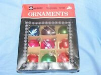 Vintage Woolworths Old Glass Christmas Tree Decoration Ornament Baubles Boxed