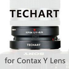 Kipon and TECHART auto foucs adapter for Contax Yashica mount lens to Sony A7II