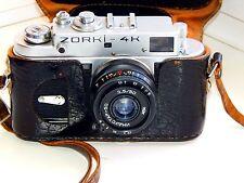 "ZORKI-4K EXPORT EDITION Soviet rangefinder film camera  w/s lens ""INDUSTAR-50"""