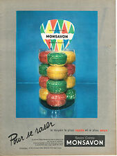 PUBLICITE ADVERTISING 015  1956  MONSAVON   savon creme à raser