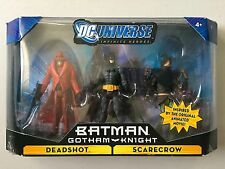 "DC Universe BATMAN GOTHAM KNIGHT 3 Figure Set DEADSHOT SCARECROW 3 & 3/4"" DCU"