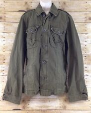 NWT Abercrombie & Fitch XL Army Green Sentinel Military Twill Cotton Jacket Coat