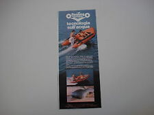 advertising Pubblicità 1982 FLOATING MOTOMAR GOMMONE