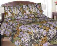 NEW LAVENDER CAMO COMFORTER QUEEN SIZE CAMOUFLAGE BEDDING HUNTER SOFT