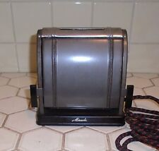 VINTAGE 1930s ART DECO GRAY & CHROME TWO SLICE MIRACLE ELECTRIC TOASTER WORKS!