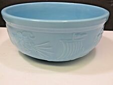 Vtg RRP Robinson Ransbottom Zephyrus Blue Pottery Serving Bowl North Wind Blows