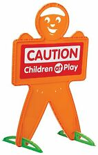 Safety Man Caution Toy Children At Play Sign Kids Safe Street Drivers Alert NEW