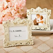 30 Vintage Ivory Baroque Place Card Picture Frame Wedding Shower Gift Favors
