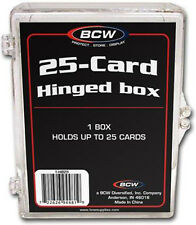 (25) BCW-HB25 BCW 25 Count Hinged Trading Card Storage Box Case Holder Protect