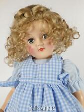 CURLY BLONDE DOLL WIG WITH A  BRAID SIZE 8-9""