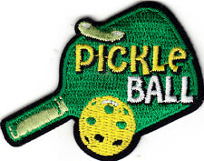 """""""PICKLE BALL"""" - IRON ON EMBROIDERED PATCH - SPORT - GAME - COMPETITION"""