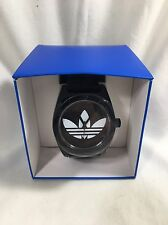 NEW Adidas Originals Santiago Black Silicone Watch ADH2653