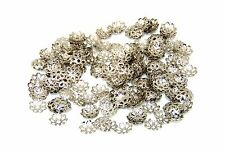 300 Pcs Antique Silver Coloured 7mm Bead Caps Jewellery Findings Craft Bead Z181