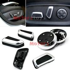 6X Matte Chrome Door Seat Adjustment Button Switch For Audi Q5 A4 A5 09-12 VW CC