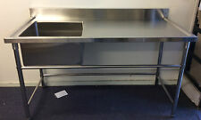 Brand New Commercial Stainless Steel Single Sink 1.2m