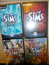 PC THE SIMS 1 I BUNDLE BASE +4 EXPANSION PACKS HOT DATE UNLEASHED LIVIN'IT UP ++