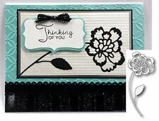 PIXIE FLOWER metal Die Memory Box dies 98807 Carnation Flowers Leaves, retired