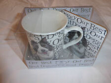 OUR BEST DOGGY FINE BONE CHINA MUG AND COASTER THE LEONARDO COLLECTION