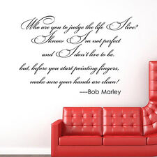 Bob Marley Quote Words Phrases Wall Sticker Vinyl Decal Mural Home Room Decor