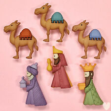 DRESS IT UP Buttons We Three Kings 8048 - Camel Embellishment - Xmas - Christmas