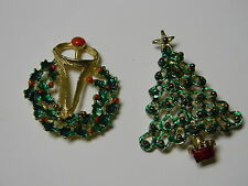 lot of 2 enamel Brooch pin (MORE COSTUME JEWELRY COMING)