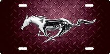 mustang horse new design Airbrushed car tag license plate 46