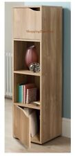 SOLID 2 DOOR OAK 4 CUBE WOODEN STORAGE UNIT DISPLAY SHELVING BOOK DVD CD CABINET