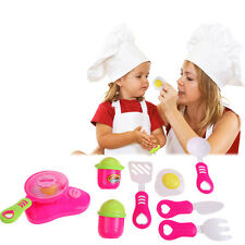 11 Pcs Kids Child Pretend Educational Role Play Toy Kitchen Cooking Cookware Set