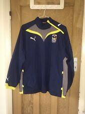 """Puma Coventry City Blue Pullover Polyester Jacket Size L AtoA26"""" L30"""" *C1"""