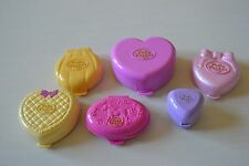 Bluebird Polly Pocket Lot Of 6 Vintage Clam Shell '89 '91 '92 '94 '95 Pink