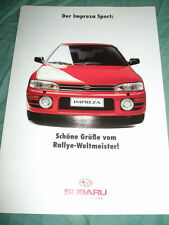 Subaru Impreza Sport range brochure c1995 German text