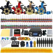 Solong Tattoo Complete Tattoo Kit 4 Machine Gun 54 Ink Needle Power Supply TK458