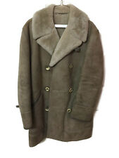 MENS  SHEARLING & SUEDE MARSHALL FIELDS COAT HUC OF SWEDEN SIZE 38- PEACOAT