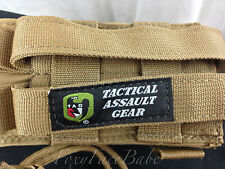 Tactical Assault Gear Molle Case / Pouch - LOT OF 2 - Coyote Brown EUC