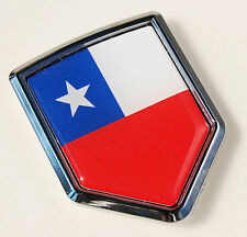 Chile  Flag Chilean Car Chrome Emblem 3D Decal Sticker