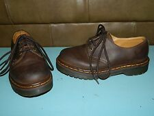 Kids Youth Dr Martens Brown Leather Shoes Big Kids Airwair SZ 3 EUC!