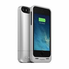 Genuine Mophie Juice Pack Helium Battery Case Cover for iPhone 5/5S/SE - Silver