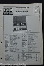 ITT SCHAUB - LORENZ  73 radio recorder  original Schaltplan 1973