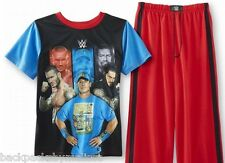 WWE John CENA Roman Reigns Randy Orton Pajamas Boy's 6/7 NeW Shirt Pants Pjs Set