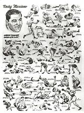 ROCKY MARCIANO 8X10 PHOTO BOXING PICTURE MONTAGE FIGHTS TO TITLE