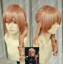 Final Fantasy 13 Lightning serah New Long Mix pink Cosplay Wig WIGS