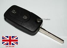 Audi Compatible A2 A3 A4 A6 A8 TT 2 Button Key Fob Key FOB with BLANK Blade