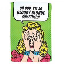 Toalla de té Oh Dios, estoy tan sangrienta Rubia a veces! diversión Humor Regalo Retro Humor